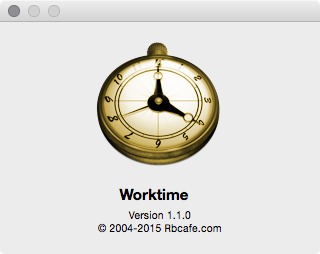 About Worktime 1.1.0